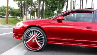 "Candy Apple Red Monte Carlo SS on 26"" DUB Skirts"