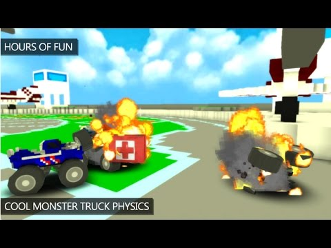 Blocky Monster Truck Smash Android Gameplay HD