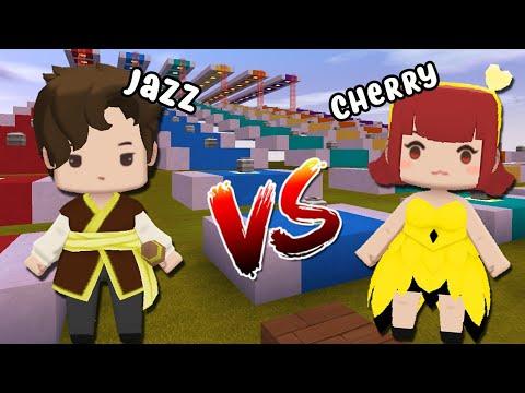 JAZZ VS CHERRY: QUEM É MELHOR NO LUCKY BLOCK DO MINI WORLD?