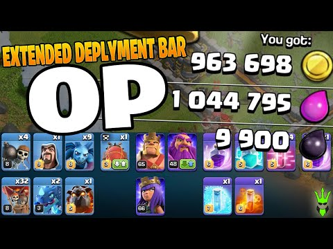 EXTENDED DEPLOYMENT BAR IS OP! - Clash Of Clans