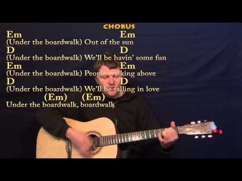 Under the Boardwalk (The Drifters) Guitar Strum Cover Lesson in G with Chords/Lyrics