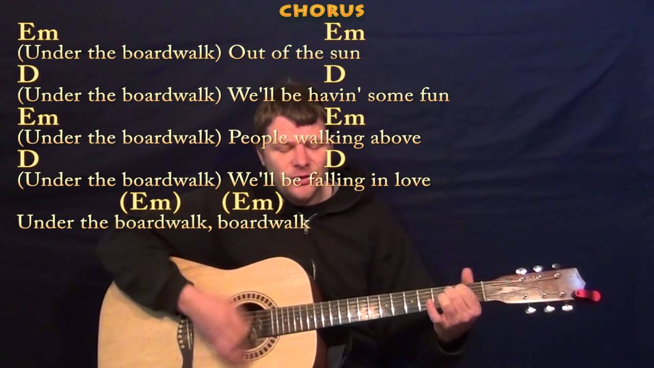 Under The Boardwalk The Drifters Guitar Strum Cover Lesson In G