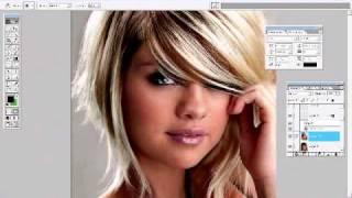 Selena Gomez A Blue Eyed Blonde - Photoshop Transformation