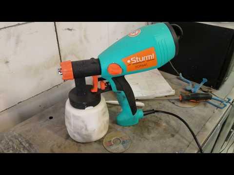 Обзор и испытания электрического краскопульта Sturm SG9641