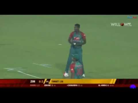 Alamin Hossain amazing Bowling  with 2 wickets in 2 ball