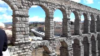 SEGOVIA Roman aqueduct and city inside the walls