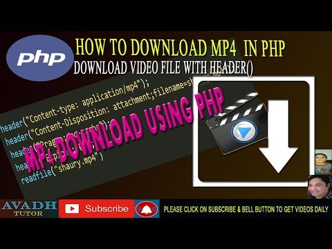 Download Video File Using Php | Download Mp4 File Using Php | Php Tutorial | Avadh Tutor