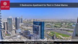 3 Bedrooms Apartment for Rent in Dubai Marina, Marina Heights