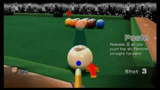 Wii Play Billiards All 4 Foul Screens