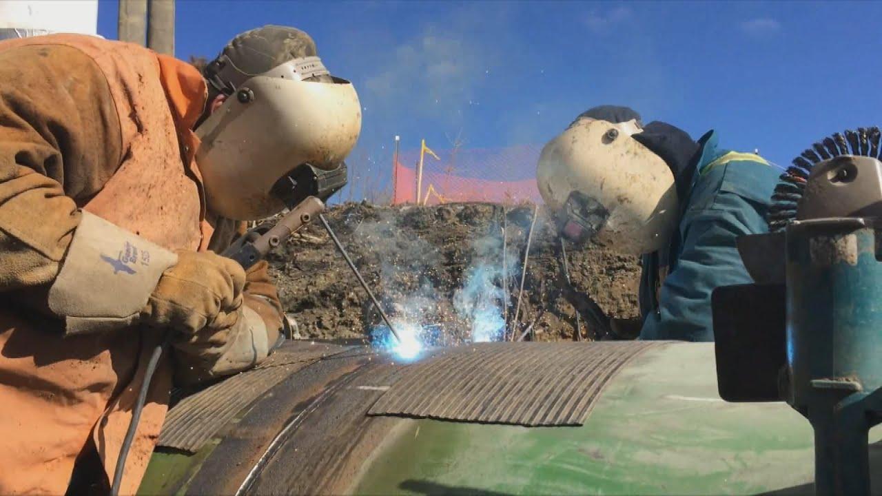 Spool Piece Welding - Pipeline Fabrication - YouTube