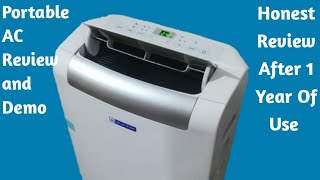 Honest Portable AC Review And Demo After One Year Of Use | Bluestar portable air conditioner  Review