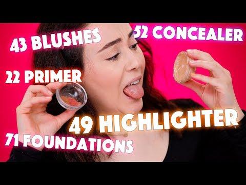 MAKEUP MISCHEN in jeder KATEGORIE👩🍳 mixing Foundations, Concealer, Highlighter, Blushes uvm.