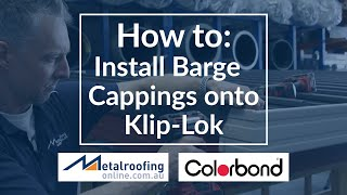 How to: Install Barge Capping Roof Flashing on KLIP LOK roofing | Metal Roofing Online