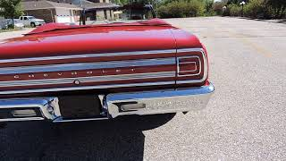 1965 Chevy Chevelle convertible red forsale at www coyoteclassics com