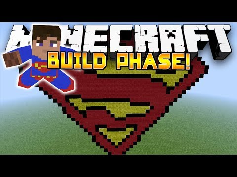 Minecraft Minigame Battle Dome! - THE SUPERMAN DOME! - (Build Phase) - Part 1/2