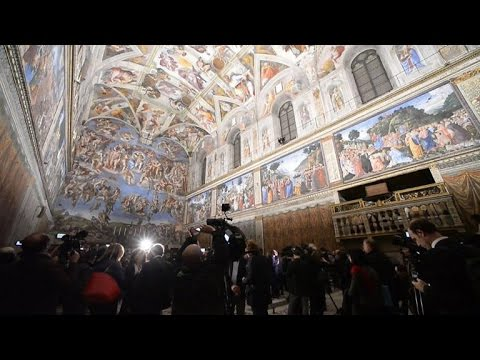 Vatican unveils its new LED lighting in Sistine Chapel