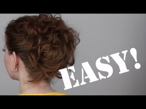 Hair Tutorial: A Quick & Easy Updo for Curly Hair