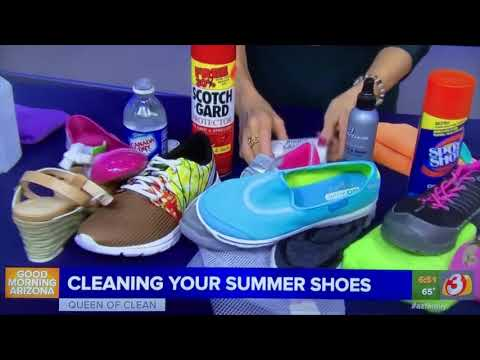 SMELLY SHOES? How to keep them clean and smelling good - Queen of Clean on TV