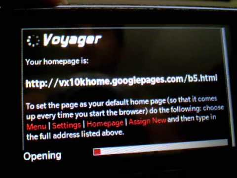 HOW TO: Custome Home Page On LG Voyager
