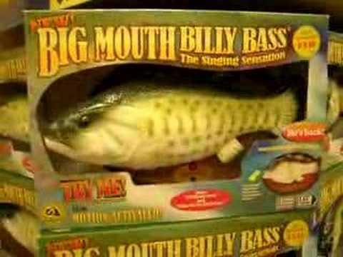 Singing fish youtube for Talking bass fish