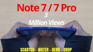 Redmi Note 7S | 7 (Global) Durability Test (DROP SCRATCH WATER BEND) | Gupta Information Systems