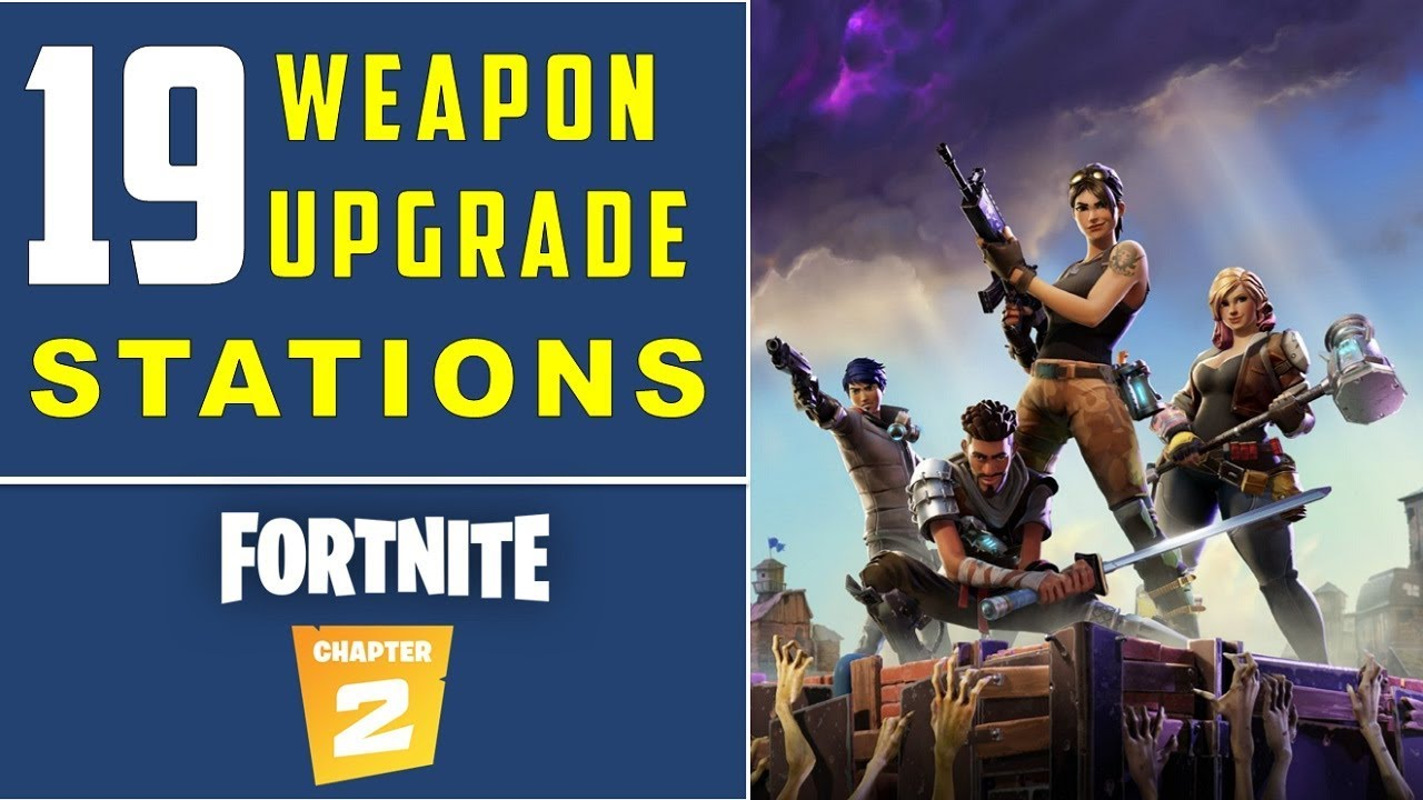 All 19 Weapon Upgrade Station Locations Fortnite Chapter 2