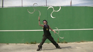 Experiments with juggling and tosses Triplengs made by me, more inf...