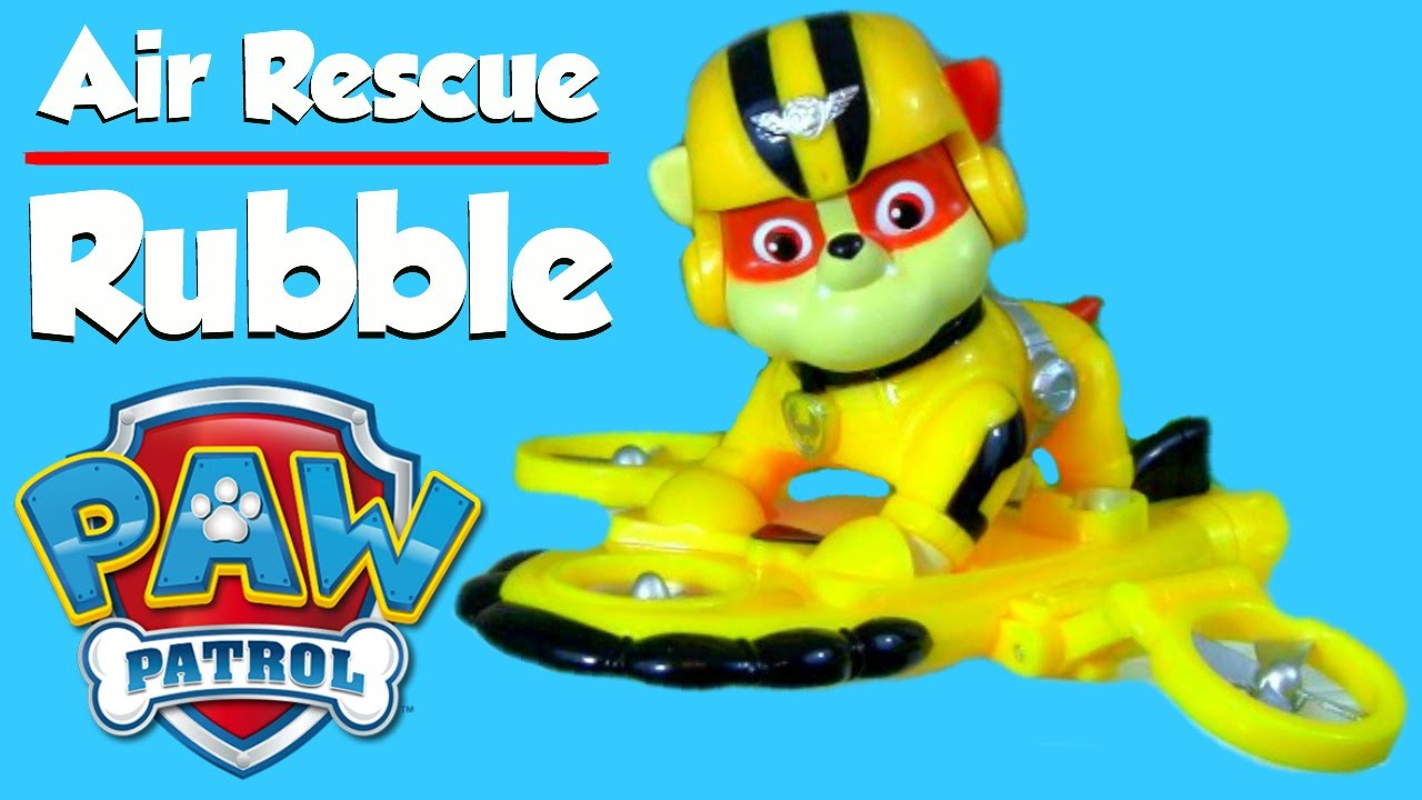 Paw Patrol Air Rescue RUBBLE Pack Pup Badge