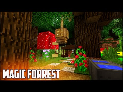 Minecraft Tutorial: How To Make A Magic Forrest House | Easy & Compact Cute Survival Hobbit Home