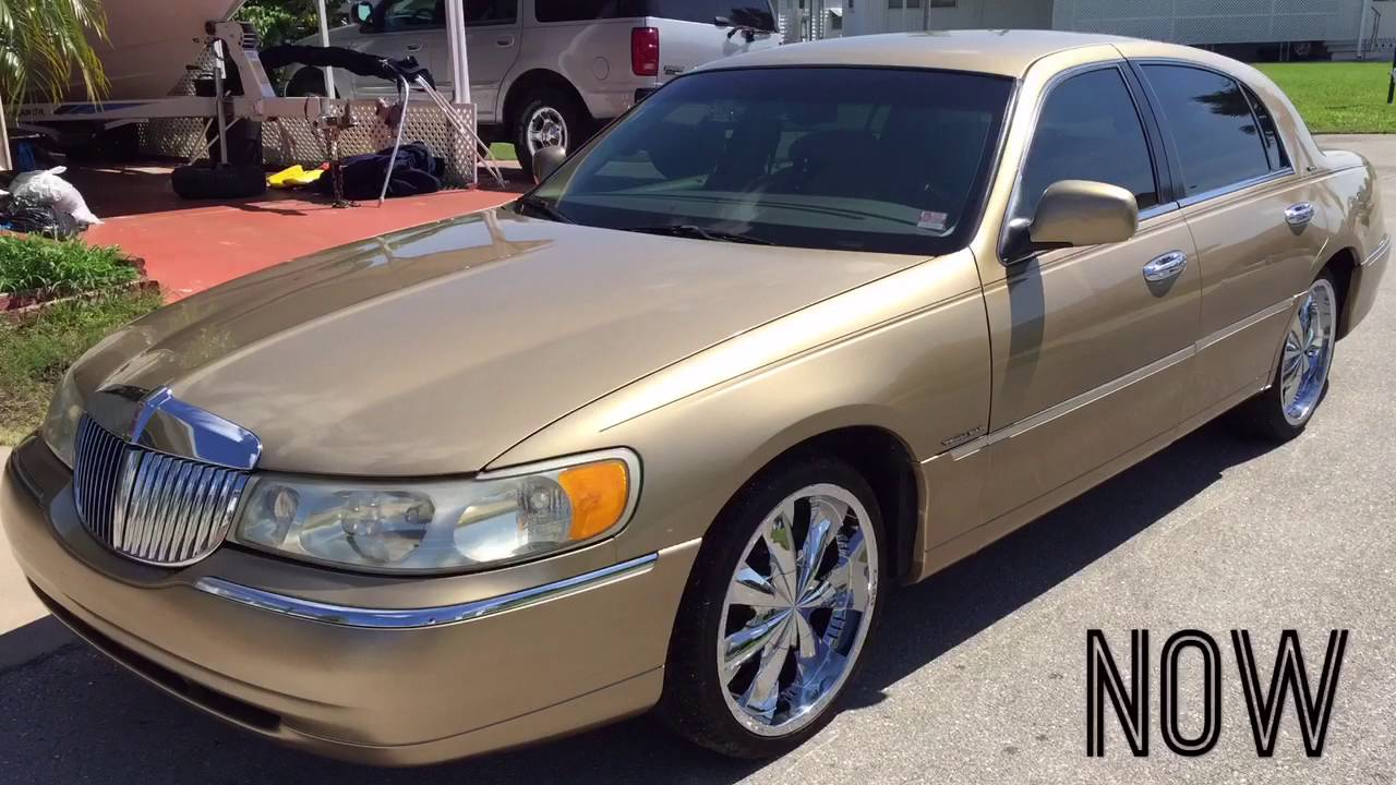 Lincoln Town Car 2016 >> 1998 Lincoln Town Car On 20's - YouTube