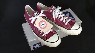 Vintage USA-MADE Converse All Star Chuck Taylor shoes sz 9.5 magenta burgundy at collectornet.net