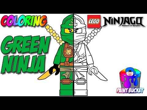 lego ninjago green ninja lloyd garmadon minifigure - lego coloring pages for kids to color and