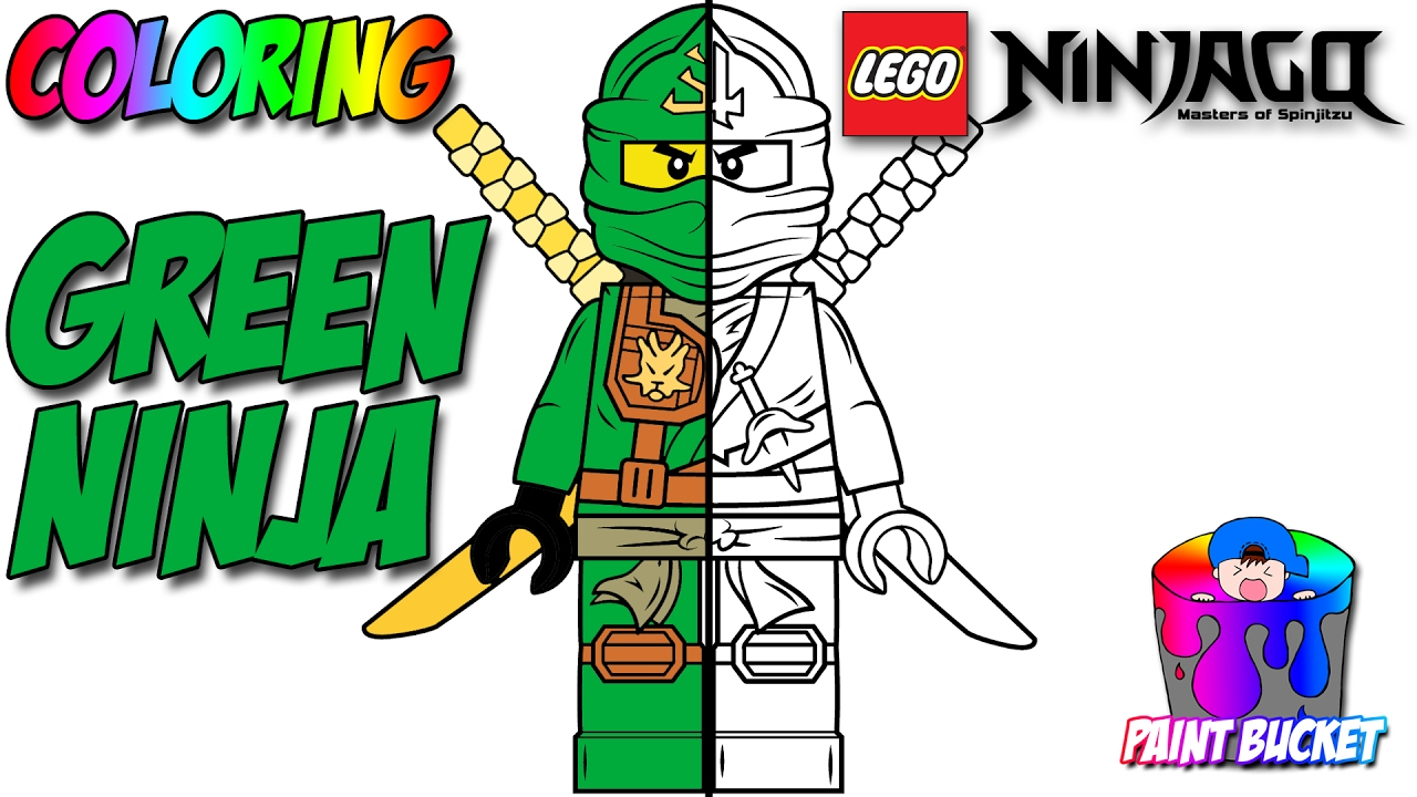 lego ninjago green ninja lloyd garmadon minifigure lego coloring pages for kids to color and play youtube