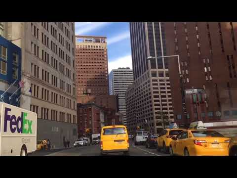 New York City, a tour arround famous battery park city , USA