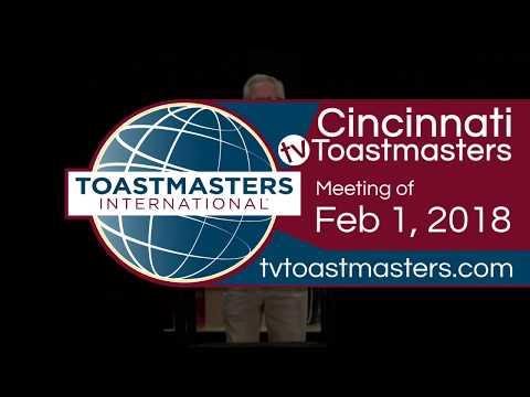 Cincinnati TV Toastmasters Club Meeting of Thursday, February 1, 2018