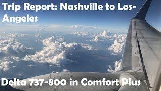 Flight Report: Nashville to Los Angeles Delta 737-800 Comfort Plus