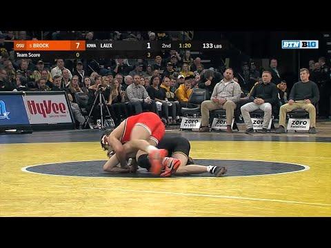 Big Ten Wrestling: 133 LBs  Oklahoma State's Kaid Brock vs. Iowa's Phillip Laux