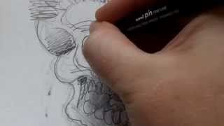 Drawing A Punk Skull - Drawing Journal 58