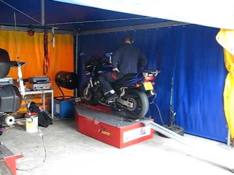 FZS600, 94.7 bhp @ 10936.2 rpm, 66.8 Nm @ 9403.0 rpm, Huge Flames!