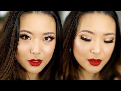 CLASSIC GLITTER GLAM Holiday Makeup || Jen Chae
