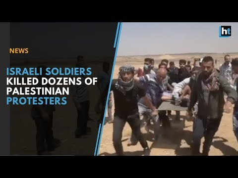 Israeli soldiers killed dozens of Palestinians during mass protests along the Gaza Border