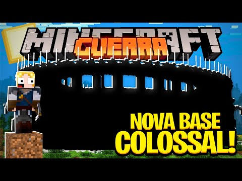 COMEÇAMOS A NOSSA NOVA BASE COLOSSAl ! - MINECRAFT GUERRA #19