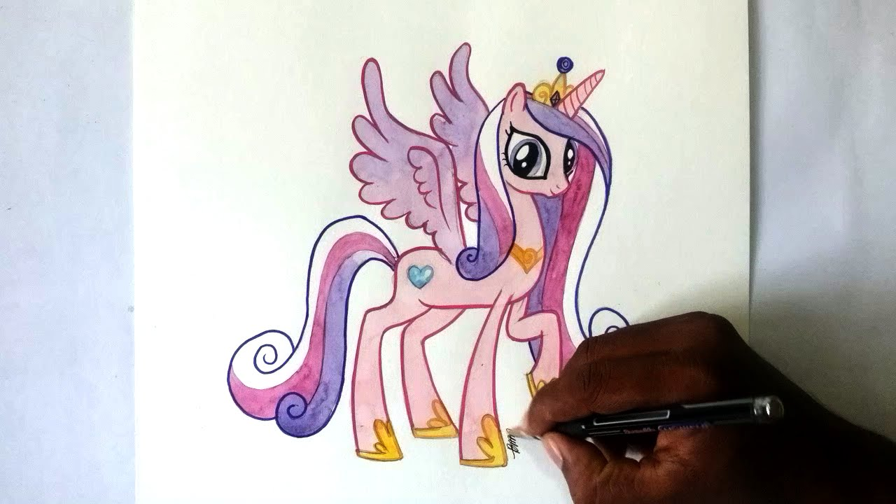 How To Draw My Little Pony Princess Cadance Alicorn Pony