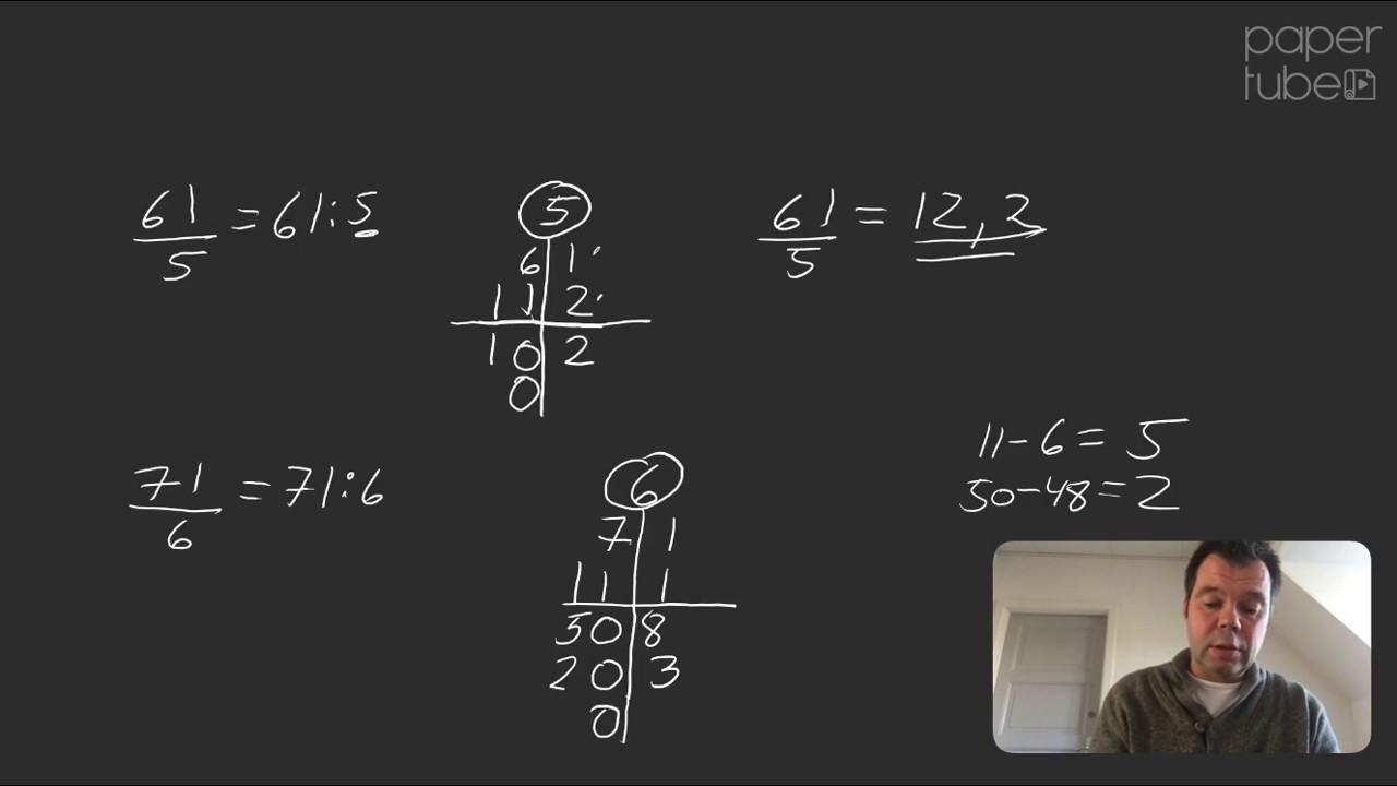 Division der giver decimaltal/kommatal