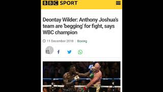 DEONTAY WILDER: JOSHUA TEAM BEGGING  FOR A FIGHT