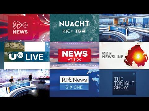 Irish TV News Intros 2020 / Openings Compilation Ireland & Northern Ireland (HD)