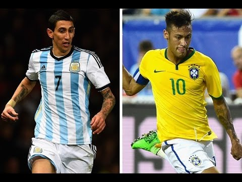 Neymar Jr vs Angel Di Maria dribles e gols 2016