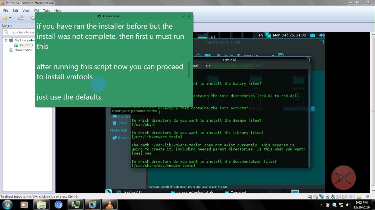 install vmware tools on linux