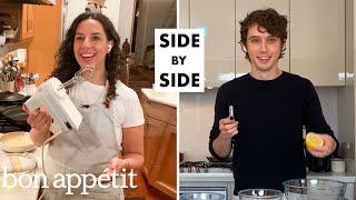 Troye Sivan Tries to Keep Up With a Professional Chef | SidebySide Chef | Bon Appétit