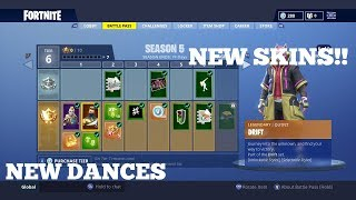 Season 5 Battle Pass Walkthrough! NEW SKINS! // NEW EMOTES ?? NEW TOYS!? // Fortnite Battle Royale